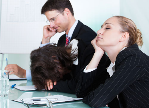 Employees Asleep in meeting