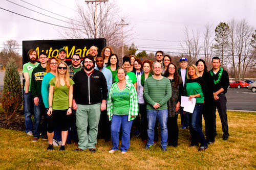 Auto/Mate employees wear green on St. Patricks Day